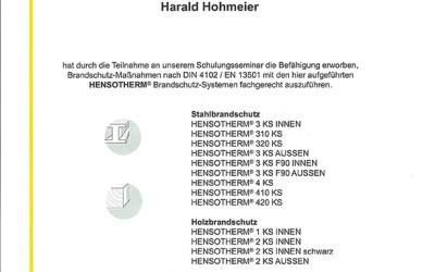 Hensotherm Brandschutz
