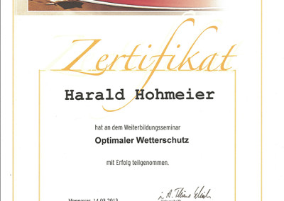 Optimaler Wetterschutz