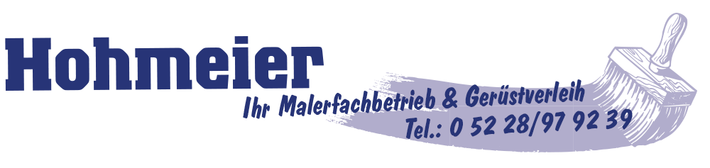 Hohmeier - Ihr Malerfachbetrieb & Gerüstverleih in Vlotho/Exter